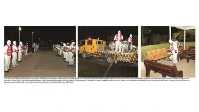 Photo of Sanitisation campaign at Dahl Al Hamam Park