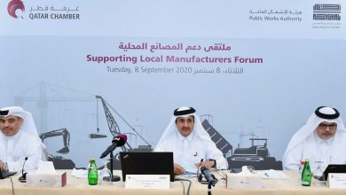 "Photo of In the presence of H.E. the Minister of Commerce and Industry .. Ashghal, in Collaboration with Qatar Chamber, Organizes ""Supporting Local Manufacturers Forum"""