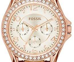 Photo of Fossil Women's Riley Stainless Steel Chronograph Glitz Quartz Watch