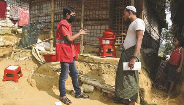 Photo of QRCS gives assistance to refugees in Bangladesh