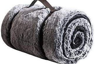 Photo of Mon Chateau Luxury Collection Faux Fur Throw (Grey)