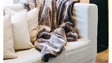Photo of Mon Chateau Luxury Collection Faux Fur Throw (Mocha)
