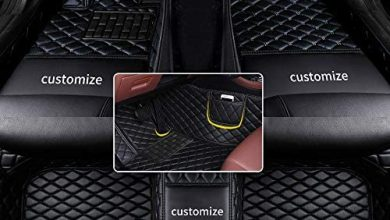Photo of Muchkey car Floor Mats fit for 95% Custom Style Luxury Leather All Weather Protection Floor Liners Full car Floor Mats Black