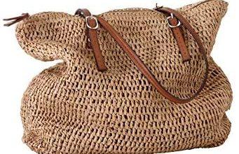 Photo of ellos Women's Plus Size Zip Top Straw Bag