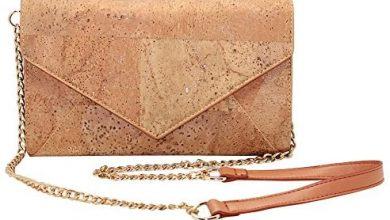 Photo of Natural Cork Crossbody Bag, Boshiho Women Vegan Handbag Cork Clutch Wallet