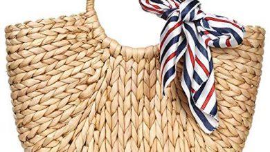 Photo of Summer Rattan Bag for Women Straw Hand-woven Top-handle Handbag Beach Sea Straw Rattan Tote Clutch Bags