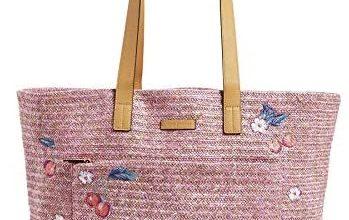 Photo of Vera Bradley Front Pocket Straw Tote Bag