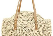 Photo of Straw Handbags Women Handwoven Round Corn Straw Bags Natural Chic Hand Large Summer Beach Tote Woven Handle Shoulder Bag