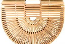 Photo of Vintga Bamboo Bags for Women Summer Straw Bags Wooden Beach Purses Basket Handle Handbags